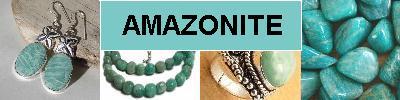 Bijoux en argent 925 avec pierre AMAZONITE - achat et  vente - bagues, colliers, bracelets, parures, boucles oreilles, pendentif