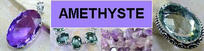 Bijoux en argent 925 avec pierre AMETHYSTE pourpre, violette, verte - achat et  vente - bagues, colliers, bracelets, parures, bo