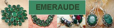 Bijoux en argent 925 avec pierre EMERAUDE - achat et  vente - bagues, colliers, bracelets, parures, boucles oreilles, pendentifs