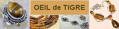 Bijoux en argent 925 avec pierre OEIL de TIGRE - achat et  vente - bagues, colliers, bracelets, parures, boucles oreilles, pende