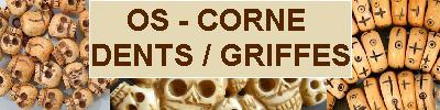 Bijoux en Os, Corne, Griffes, Dents, Rostres achat et  vente - bagues, colliers, bracelets, parures préhistoriques, néolithiques