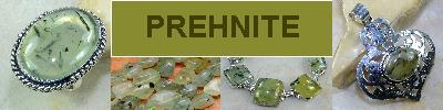 Bijoux en argent 925 avec pierre PREHNITE - achat et  vente - bagues, colliers, bracelets, parures, boucles oreilles, pendentif
