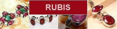 Bijoux en argent 925 avec pierre RUBIS - achat et  vente - bagues, colliers, bracelets, parures, boucles oreilles, pendentifs,