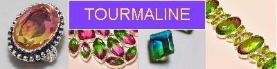 Bijoux en argent 925 avec pierre TOURMALINE - achat et  vente - bagues, colliers, bracelets, parures, boucles oreilles, pendenti