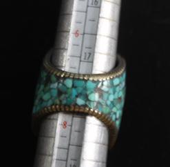 Af 0016 bague afghane medievale corail turquouoise ethnique 6