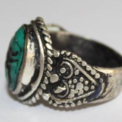 Af 0046 bague sceau intaille turquoise pegase afghane 4