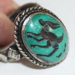 Af 0047 bague sceau intaille antilope afghane medievale 4