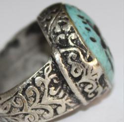 Af 0048 bague sceau intaille turquoise antilope afghane medievale 3