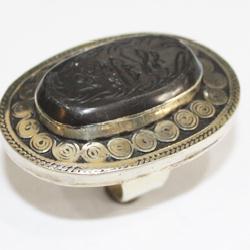 Af 0260 bague coranique onyx noir verset coran argent 2