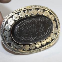 Af 0260 bague coranique onyx noir verset coran argent 3