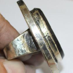 Af 0260 bague coranique onyx noir verset coran argent 5