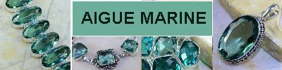 Bijoux en argent 925 avec pierre AIGUE MARINE - achat et  vente - bagues, colliers, bracelets, parures, boucles oreilles, penden