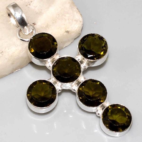Am 1039a croix pendant pendentif amethyste verte bijou achat vente argent 925