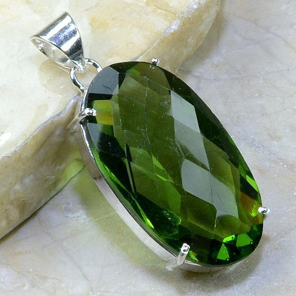 Am 1049a pendant pendentif amethyste verte bijou achat vente argent 925