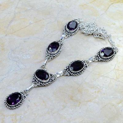 Am 1051a collier parure sautoir 1900 amethyste pourpre bijou achat vente argent 925