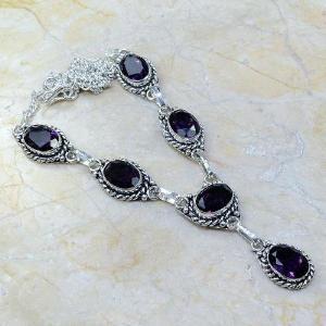 Am 1051d collier parure sautoir 1900 amethyste pourpre bijou achat vente argent 925