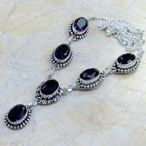 Am 1052d collier parure sautoir 1900 amethyste pourpre bijou achat vente argent 925