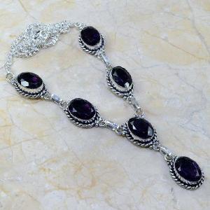 Am 1071a collier parure sautoir 1900 amethyste pourpre bijou achat vente argent 925