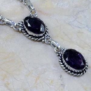Am 1072c collier parure sautoir 1900 amethyste pourpre bijou achat vente argent 925