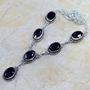 Am 1072d collier parure sautoir 1900 amethyste pourpre bijou achat vente argent 925