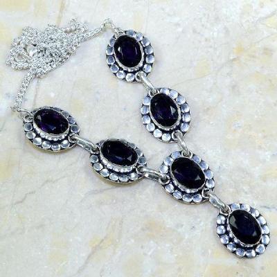 Am 1079a collier parure sautoir 1900 amethyste pourpre bijou achat vente argent 925