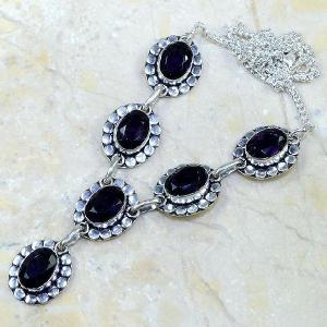 Am 1079d collier parure sautoir 1900 amethyste pourpre bijou achat vente argent 925
