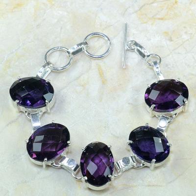 Am 1091a bracelet amethyste violette pourpre bijou achat vente argent 925