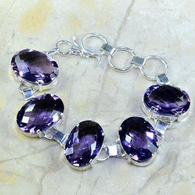 Am 1105a bracelet 1900 belle epoque amethyste violette pourpre bijou achat vente argent 925