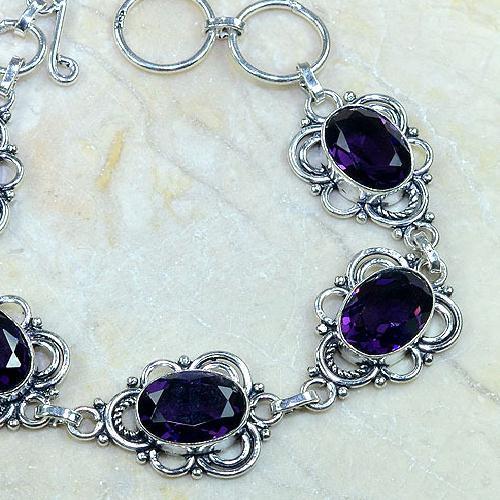 Am 1108b bracelet 1900 belle epoque amethyste violette pourpre bijou achat vente argent 925