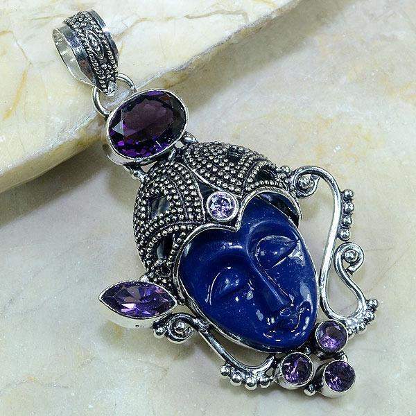 Am 1112a pendant pendentif bouddha amethyste jade achat vente argent 926