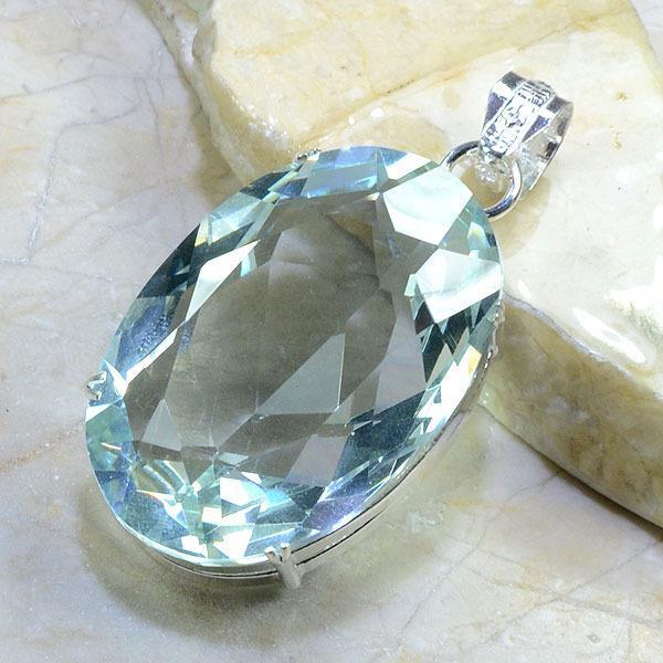 Am 1125b pendant pendentif pierre taillee amethyste verte gemme achat vente argent 925