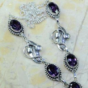 Am 1127b collier parure sautoir 1900 art deco amethyste pourpre bijou achat vente argent 925
