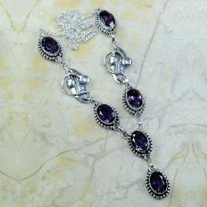 Am 1127d collier parure sautoir 1900 art deco amethyste pourpre bijou achat vente argent 925