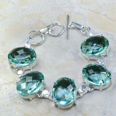 Am 1132a bracelet amethyste verte bijou achat vente argent 926