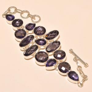 Am 1146a bracelet 1900 belle epoque amethyste violette pourpre bijou achat vente argent 925
