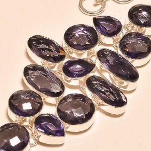 Am 1146b bracelet 1900 belle epoque amethyste violette pourpre bijou achat vente argent 925