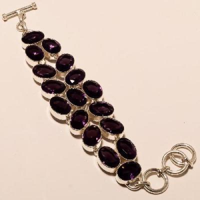 Am 1147a bracelet 1900 belle epoque amethyste violette pourpre bijou achat vente argent 925
