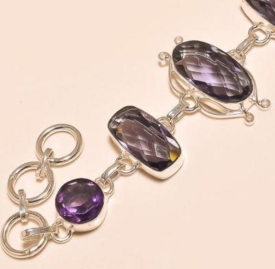 Am 1158b bracelet 1900 belle epoque amethyste violette pourpre bijou achat vente argent 925