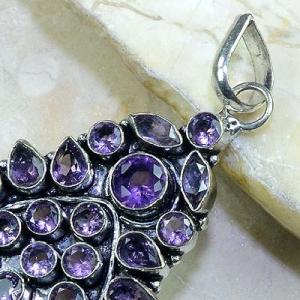Am 1182b pendentif pendant 1900 amethyste pourpre bijou achat vente argent 925