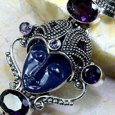 Am 1193b pendant pendentif amethyste jaspe bouddha esoterique gemme achat vente bijou argent 925