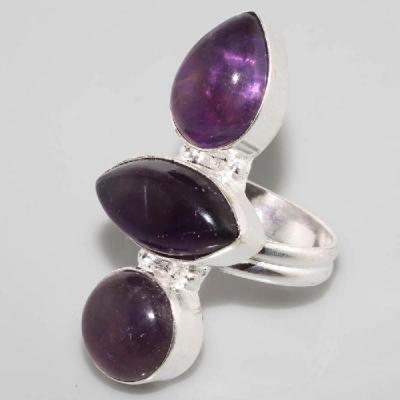 Am 1265a bague t54 medievale amethyste violet 1900 bijoux achat vente argent 925