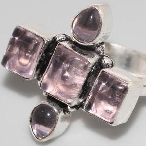 Am 1267b bague croix medievale amethyste violet 1900 bijoux achat vente argent 925