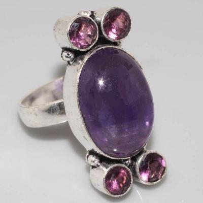Am 1269a bague medievale amethyste violet 1900 bijoux achat vente argent 925