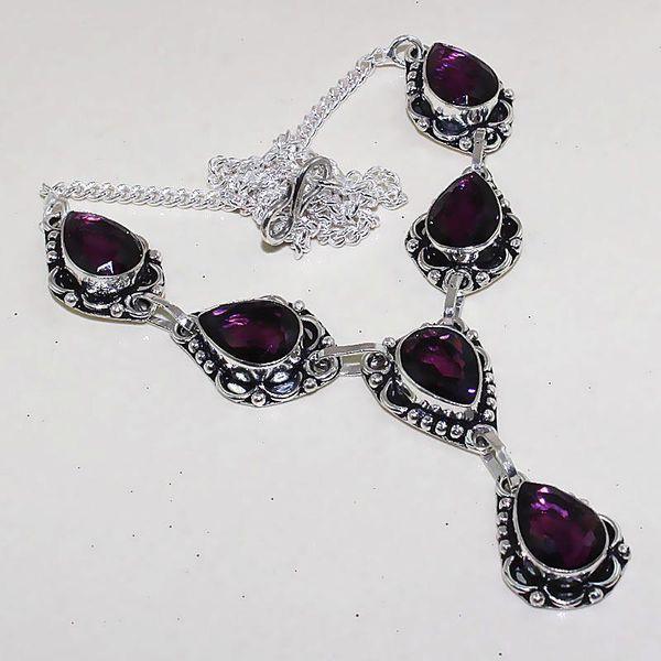 Am 1272a collier parure sautoir 1900 amethyste pourpre bijou achat vente
