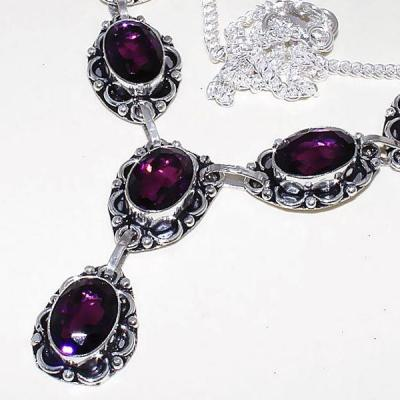 Am 1274b collier parure sautoir 1900 amethyste pourpre bijou achat vente