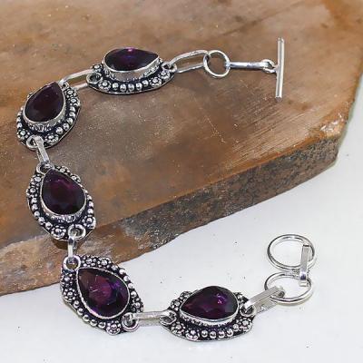 Am 1275a bracelet 1900 belle epoque amethyste violette pourpre bijou achat vente argent 925