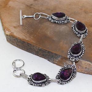 Am 1275d bracelet 1900 belle epoque amethyste violette pourpre bijou achat vente argent 925