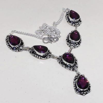 Am 1276a collier parure sautoir 1900 amethyste pourpre bijou achat vente