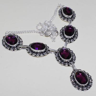 Am 1277a collier parure sautoir 1900 amethyste pourpre bijou achat vente