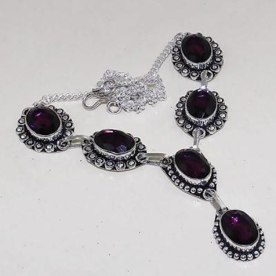 Am 1278a collier parure sautoir 1900 amethyste pourpre bijou achat vente